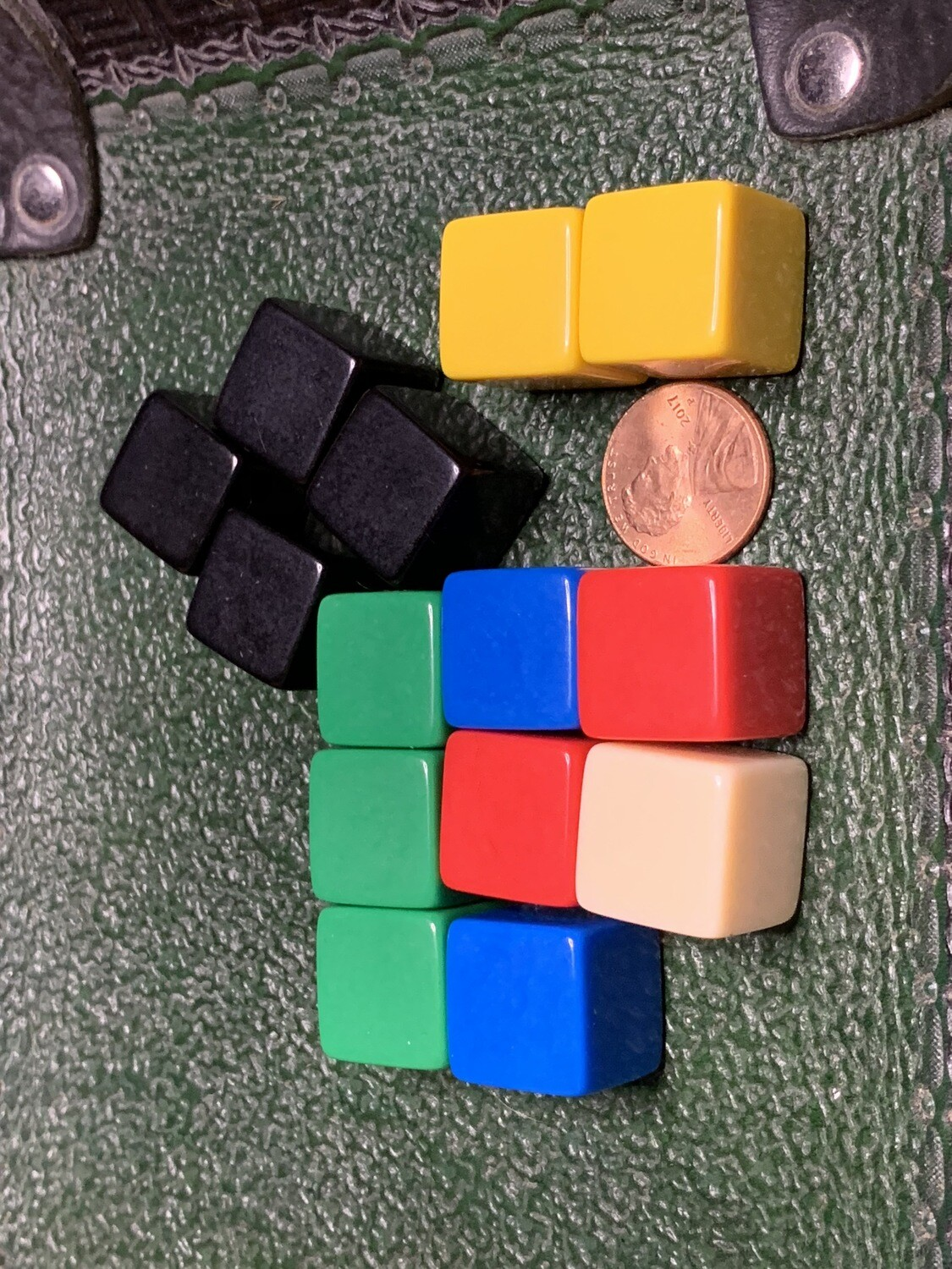 Blank D6 Six Sided Dice Counting Cubes - Lot of 5 - Choose Your Color