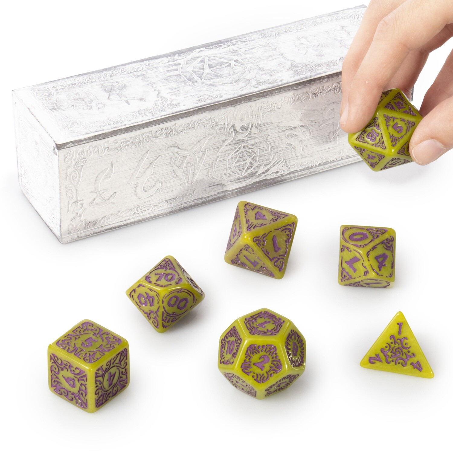 25mm Titan Dice Polyhedral Set with Box, Achlys