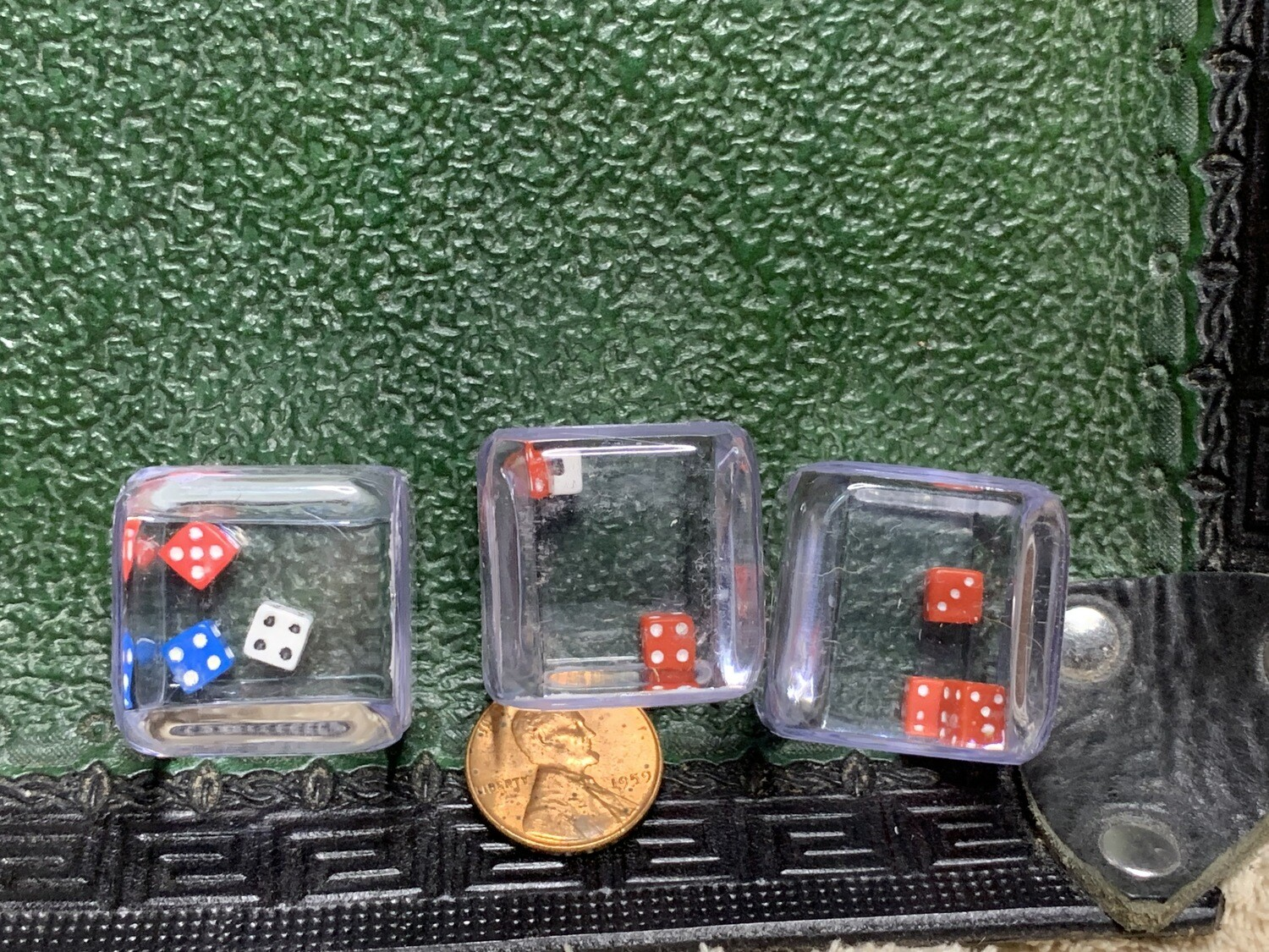Triple D6 - Three Small D6 in Large Clear D6 - Gaming Dice