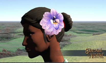 Tropical Flower Hairpiece - Shroud of the Avatar