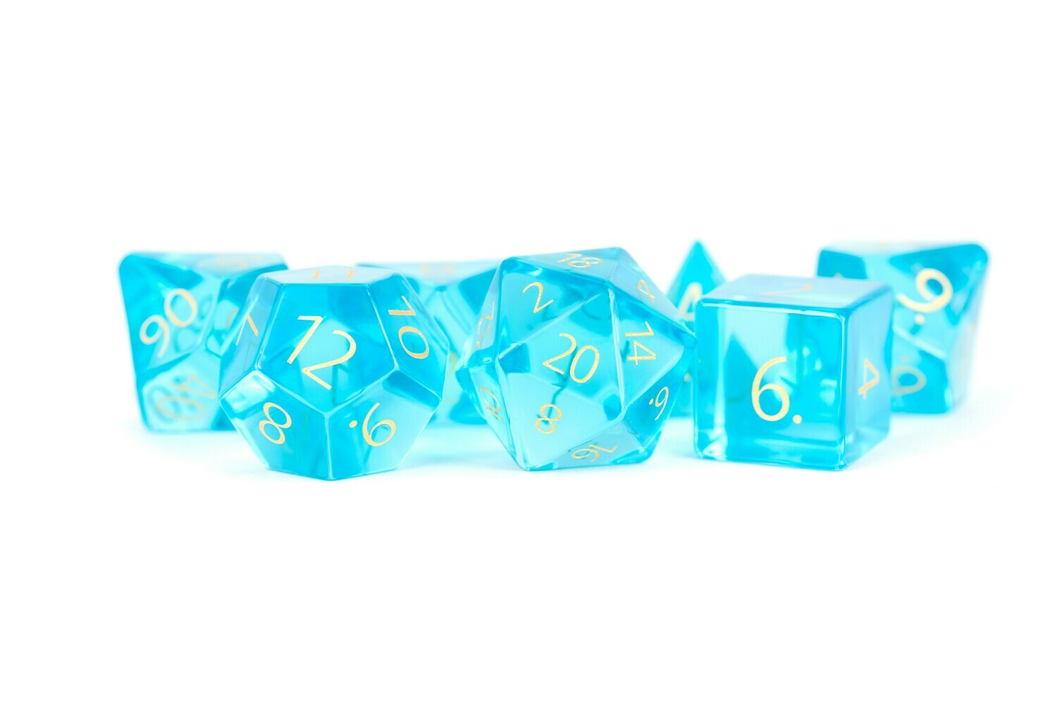 Zircon Glass Birthstone Dice: December- Topaz