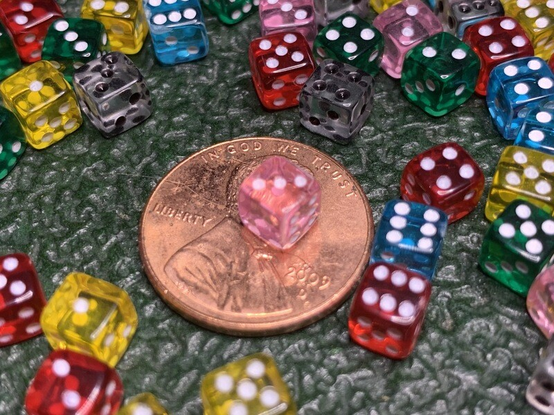 5MM Assorted Transparent Color Gaming Dice - 20+