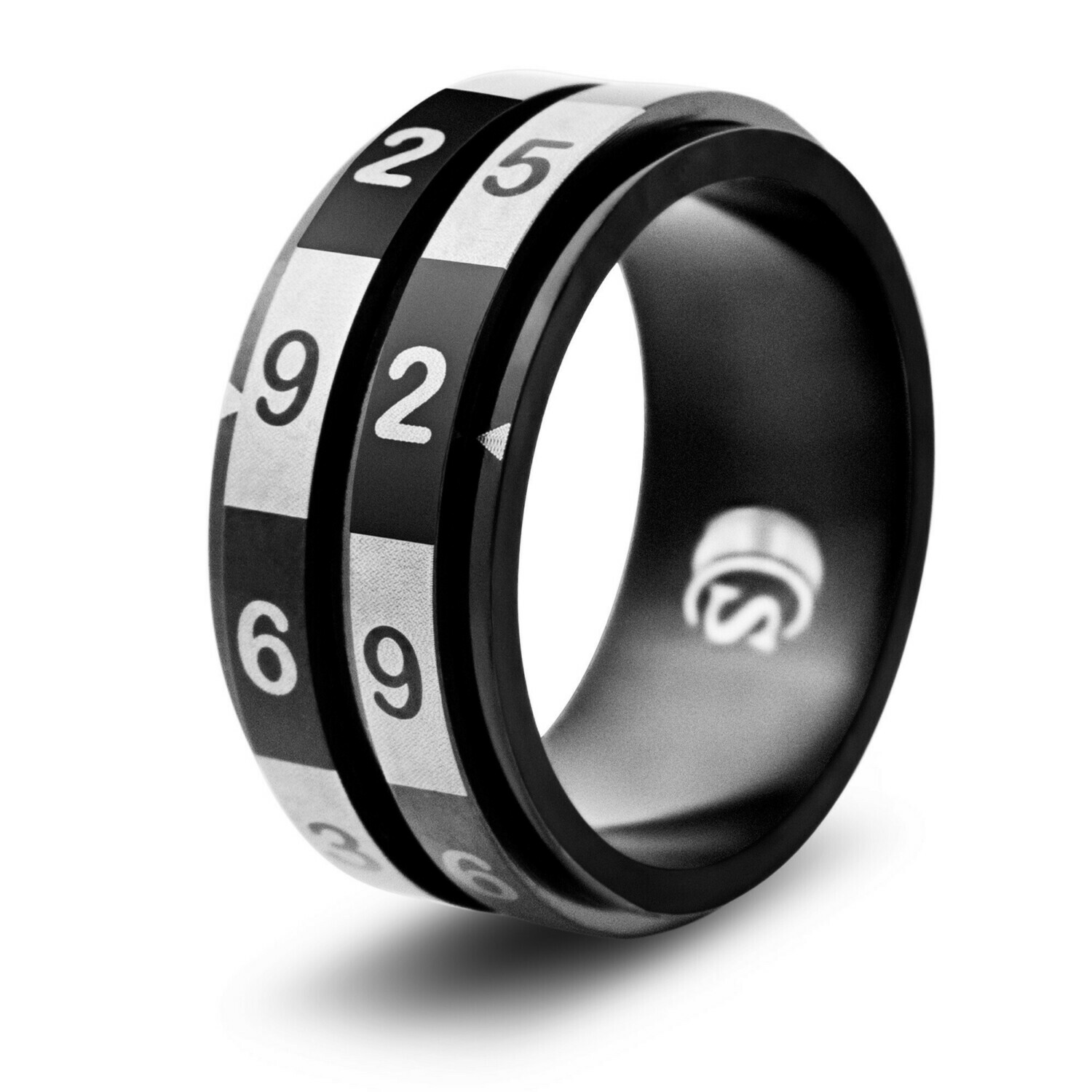 100-sided (2d10, d100) Dice Random Number Spinner Ring 1-100 Number Selector Generator