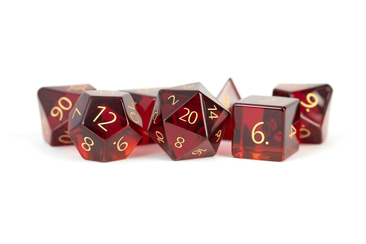 Zircon Glass Birthstone Dice: January Garnet