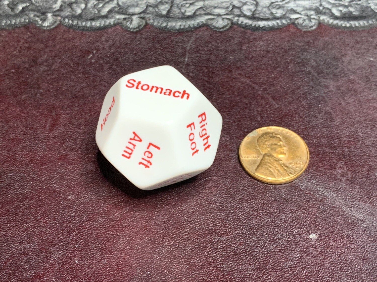 Hit Location D12 (Twelve Sided) Die Dice Critical Fumble Tabletop Gaming 28MM Jumbo