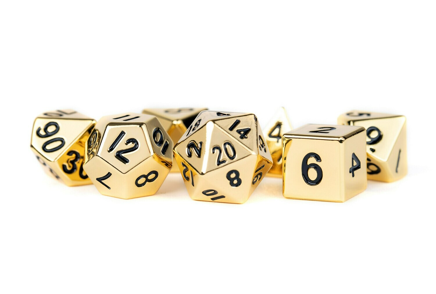 Metal Copper 16mm Polyhedral Dice Set (or Individually) - RPG Tabletop Gaming