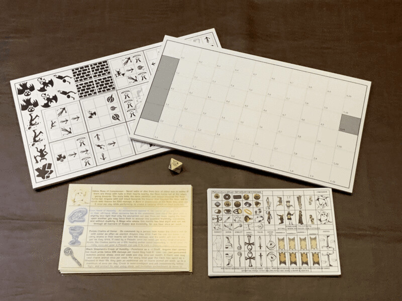 The Eight - Tabletop Tactical Board Game Using Virtues - Physical Version