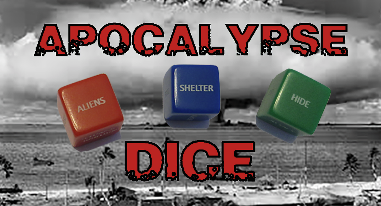 Apocalypse Action Dice 16mm Set Zombies Food Monster RPG Tabletop Gaming Games