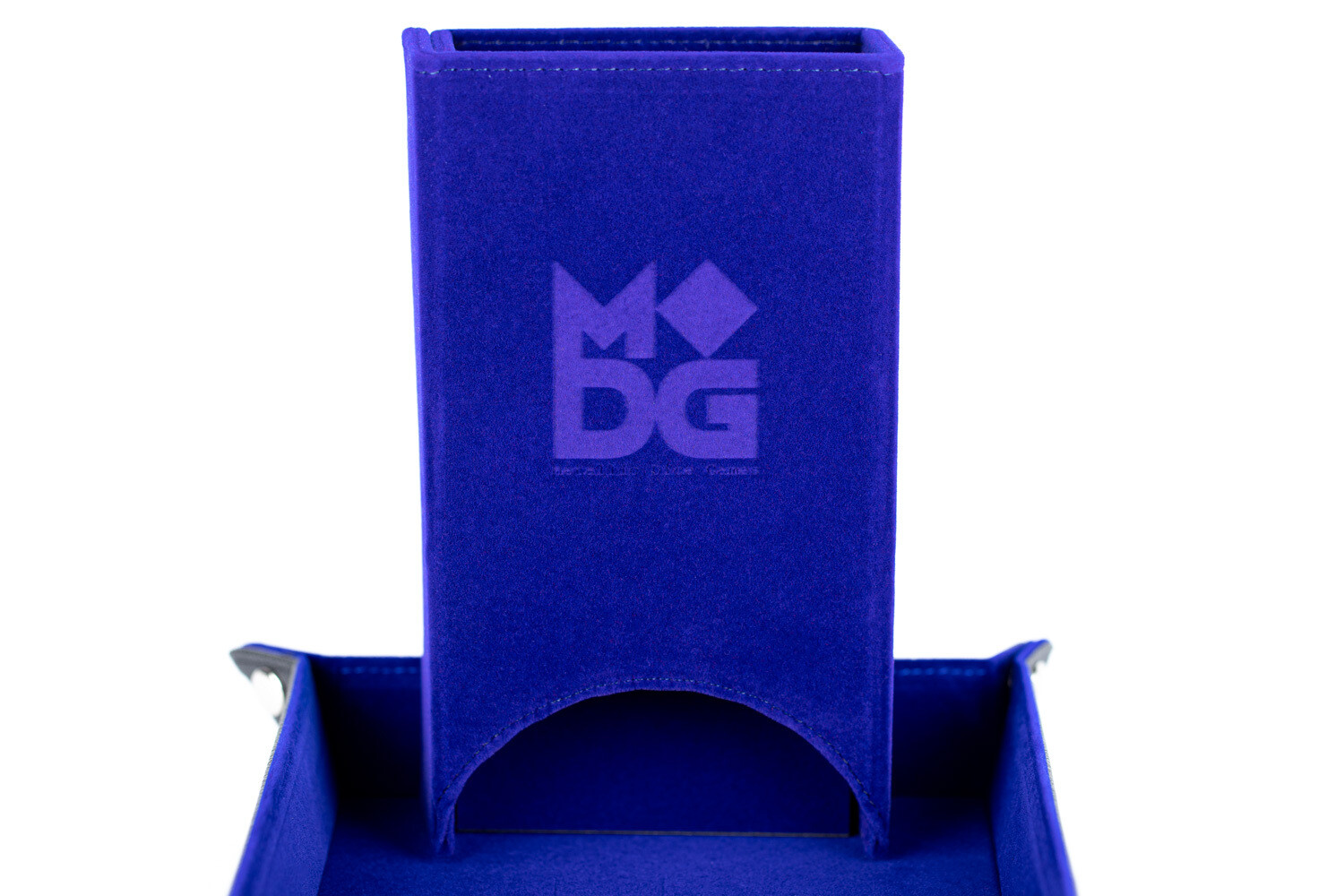 Fold Up Dice Tower For Polyhedral Gaming Dice RPG Role Play Blue Velvet