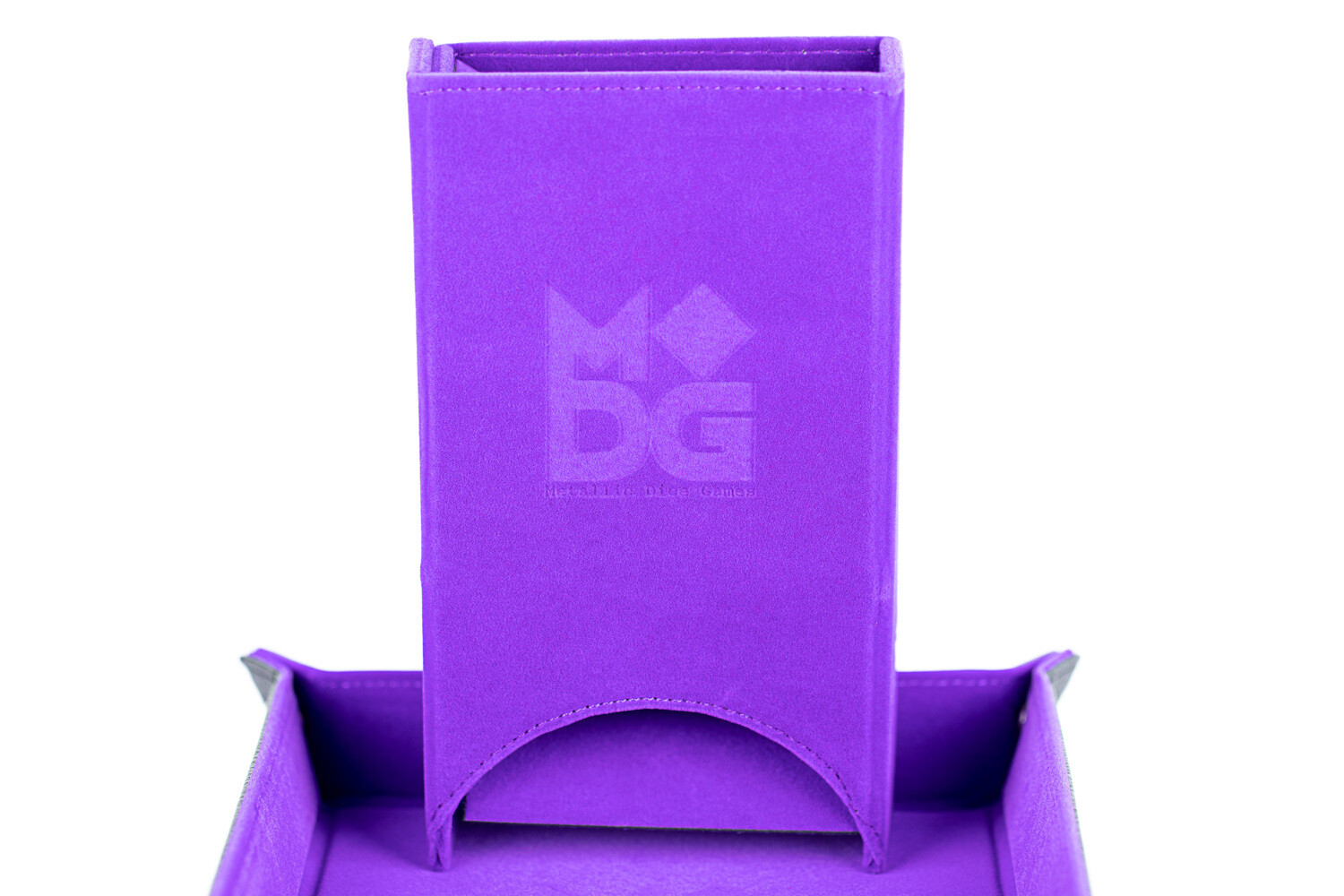 Fold Up Dice Tower For Polyhedral Gaming Dice RPG Role Play Purple Velvet