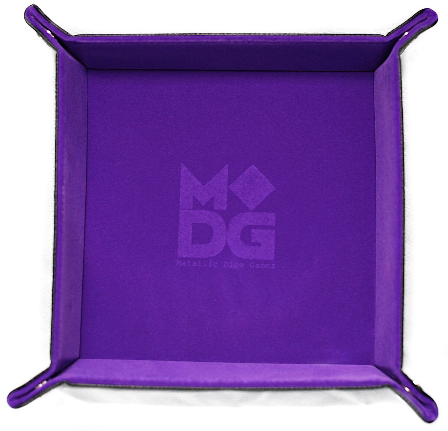 Purple Velvet Dice Tray With Leather Backing RPG Tabletop Gaming