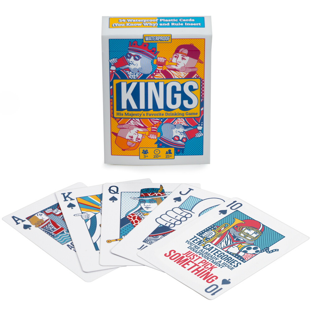 King's Drinking Game Plastic Playing Cards Alcohol Bar Tabletop Gaming