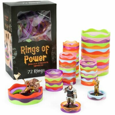 Rings of Power Tabletop Condition Markers RPG Role Play Gaming Games Miniature