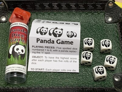 Panda Dice Game - Instructions with 5 Dice Tabletop Gaming