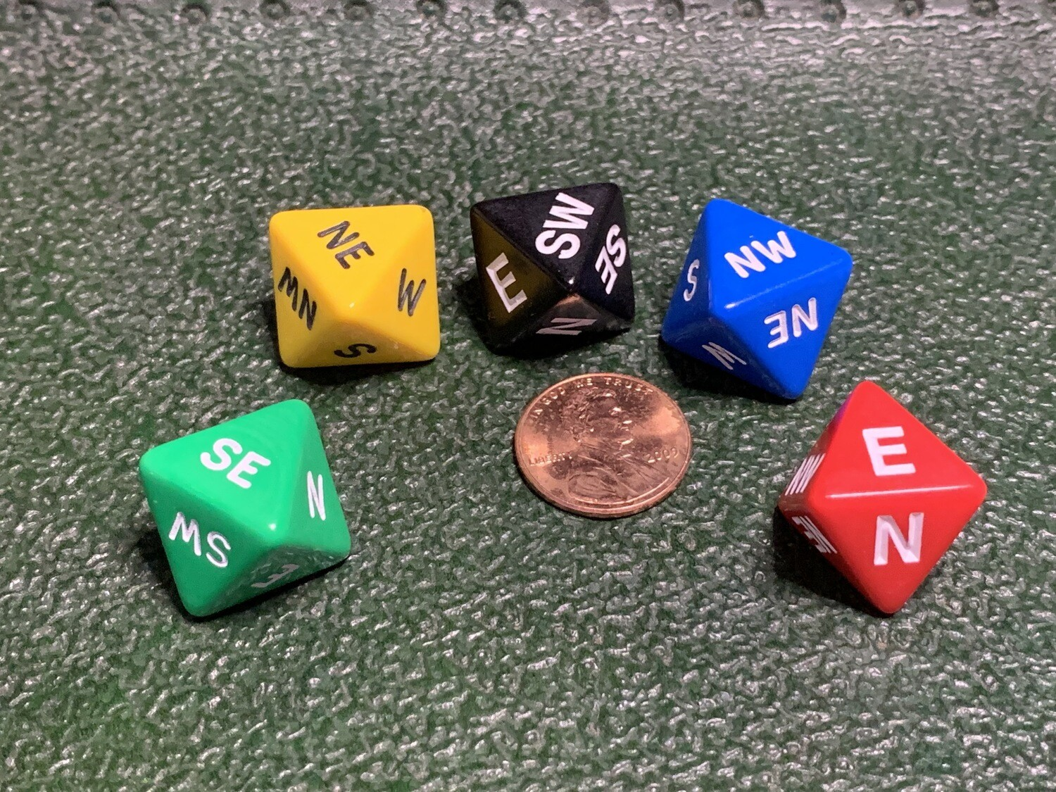 Compass Dice Direction Die D8 (Eight Sided) Tabletop RPG Gaming - Choose your Color