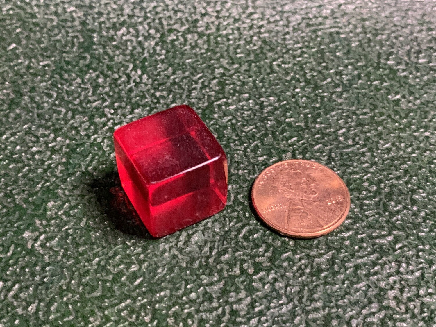 Blank Dice - D6 16mm - Transparent - Red Six Sided Counting Cube