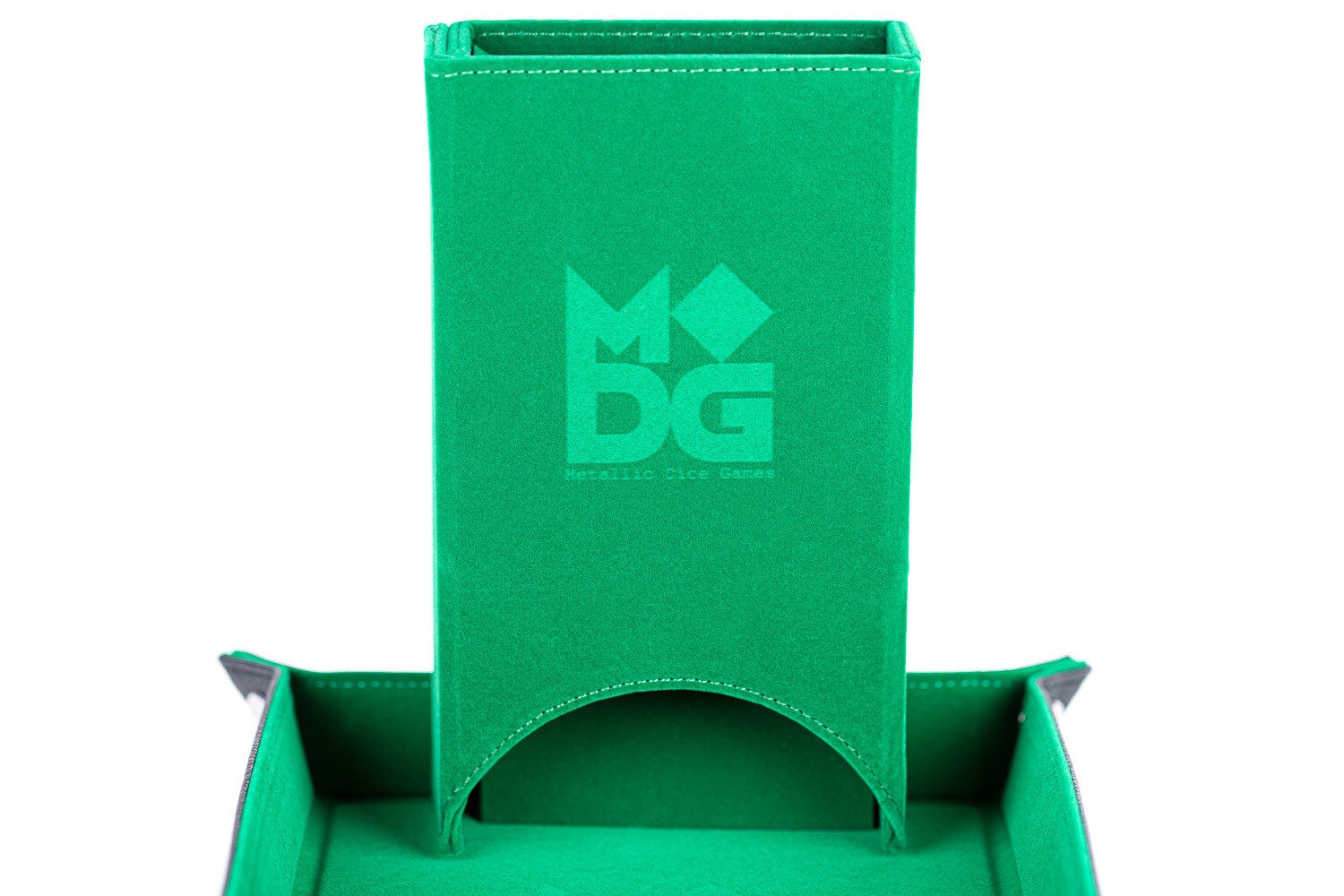 Fold Up Dice Tower For Polyhedral Gaming Dice RPG Role Play Green Velvet
