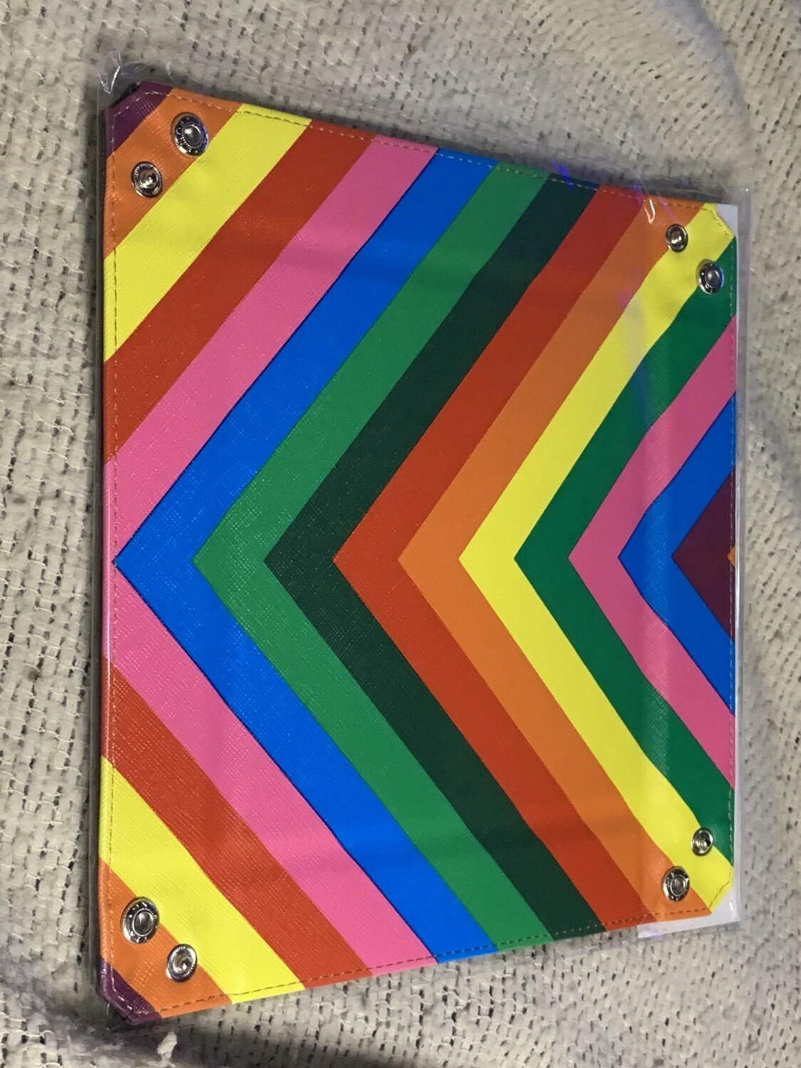 Rainbow Dice Tray With Leather Backing RPG Tabletop Gaming Roleplay