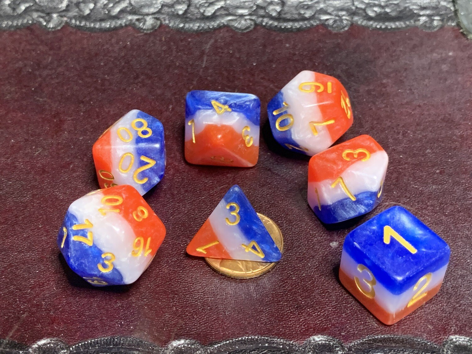 Old Glory 7 Piece Dice Polyhedral Set Tabletop RPG Gaming Board Card Games