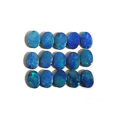 Small Opal Cabochon Doublets, in a 7x5mm size. Sold by the EACH