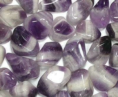 Tumbled Banded Cape Amethyst. Sold by 2 ounces.