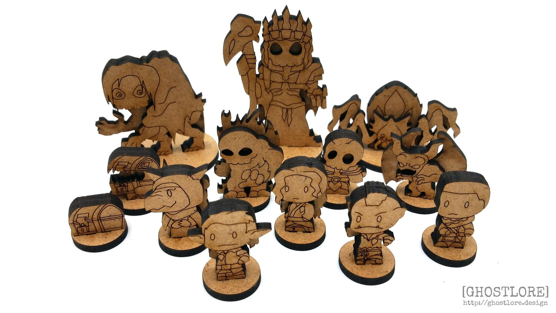 Tike's Dungeon Miniatures Set (free shipping)