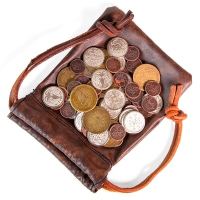 The Dragon's Hoard | 60 Metal Coins in Leather Pouch