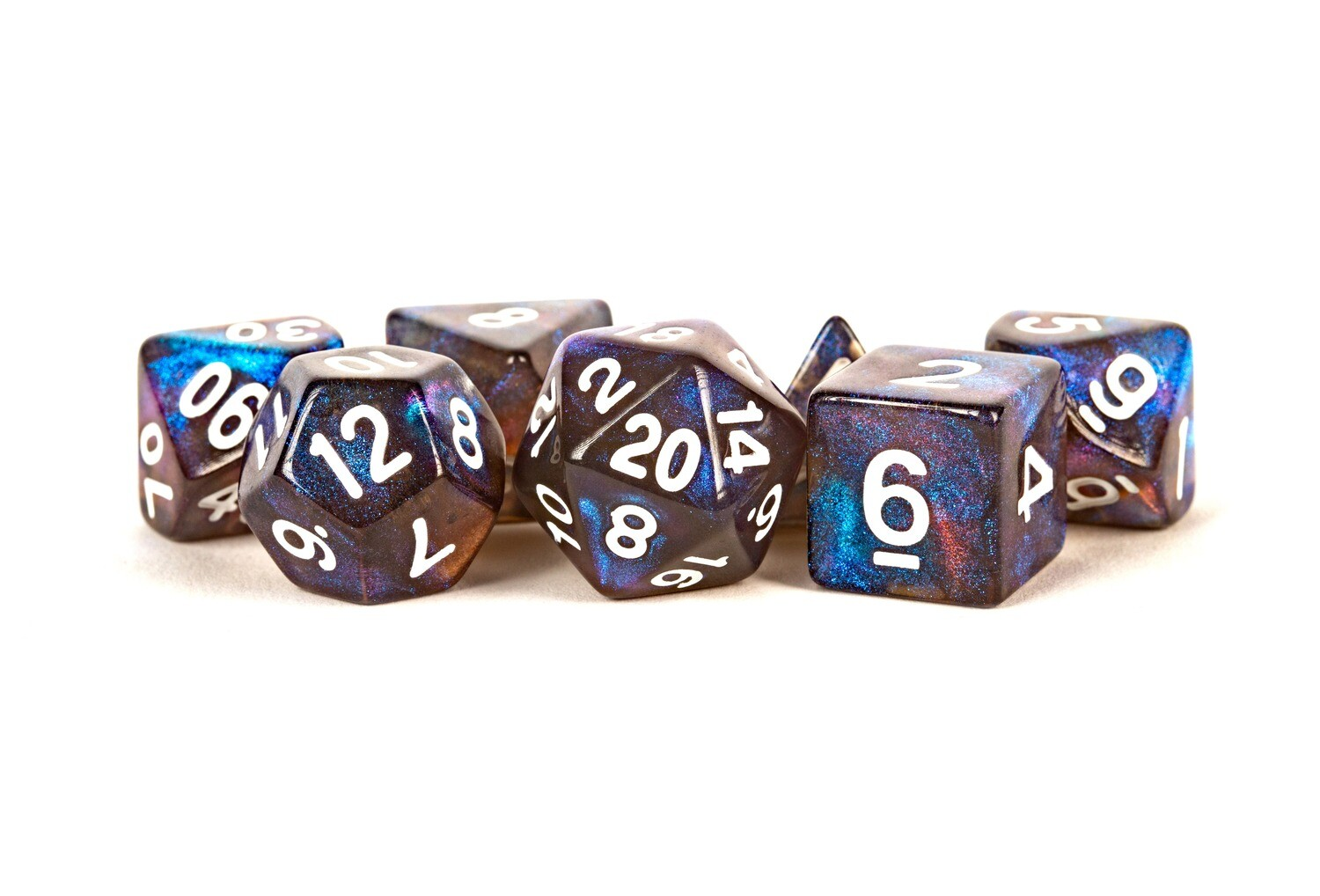 Stardust Galaxy 16mm Poly Dice Set Tabletop RPG Gaming Roleplay Games