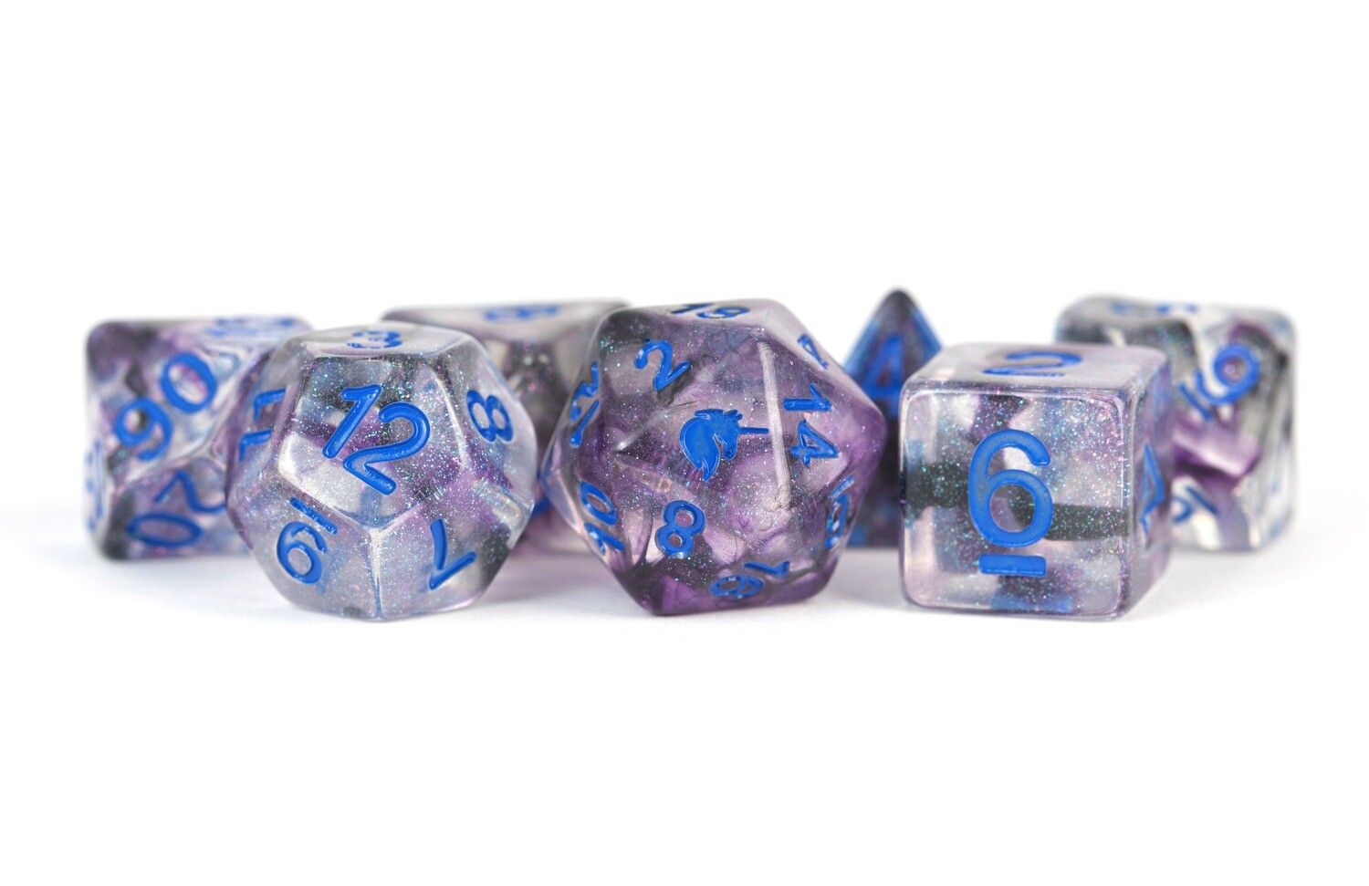 Unicorn Stellar Storm 6mm Poly Dice Set Tabletop RPG Gameing Roleplay