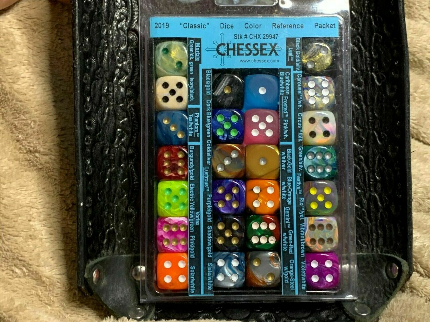 Chessex Dice Reference Pack Packet Catalog - Classic 2019 Tabletop RPG Gaming