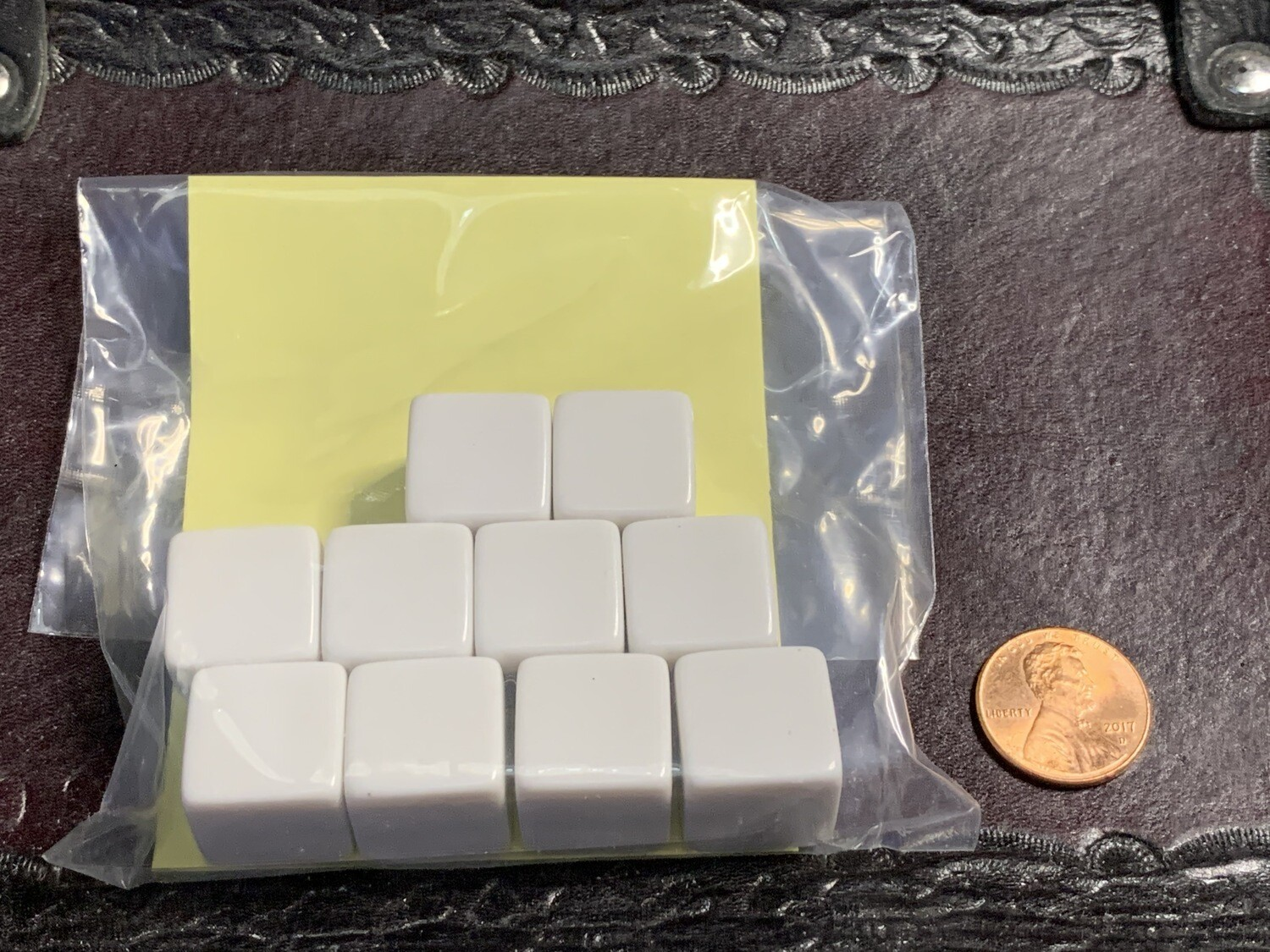 10D6 (10 Six Sided) 16mm Blank White Dice RPG Gaming Tabletop Roleplay