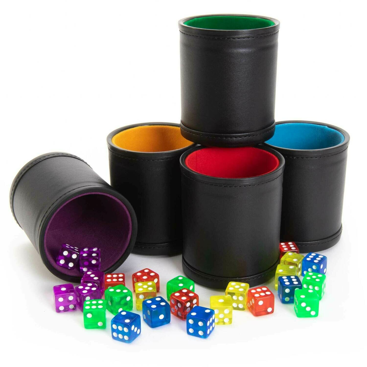Professional Dice Cups Game Night Pack, Assorted Colors 5-pk RPG CCG Tabletop