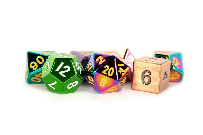 Metal Random Mixed Color 16mm Polyhedral Dice Set Tabletop RPG Gaming CCG Games(Item ID: 224019307744)