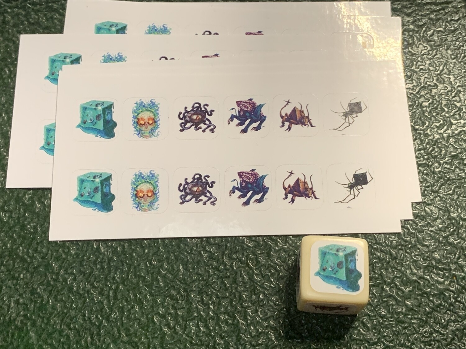 Custom Decals Stickers for D6 Dice - Tabletop RPG CCG Gaming