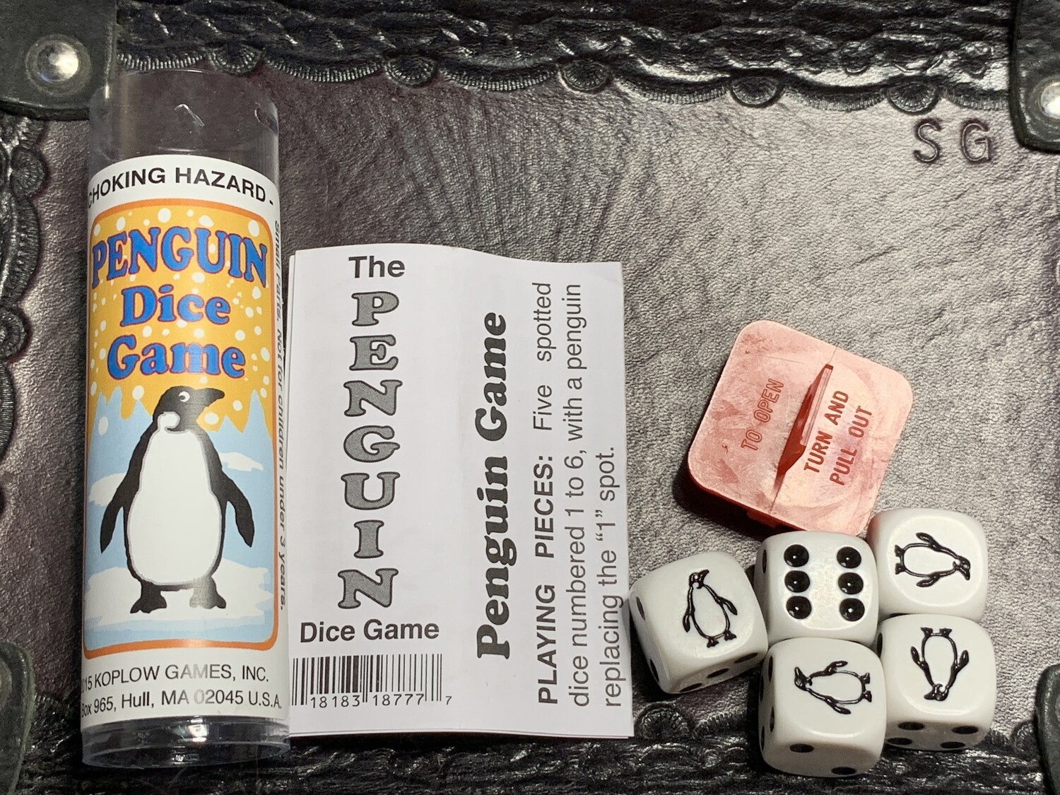 Penguin Dice Game - Instructions with 5 Dice Tabletop Gaming