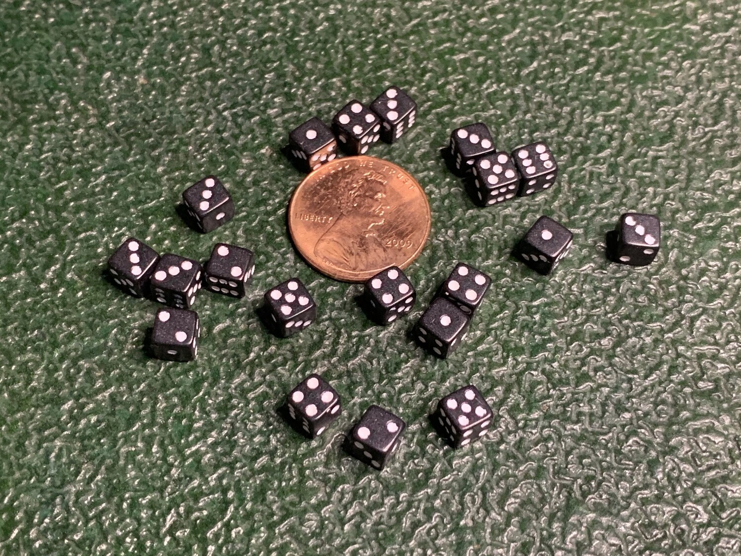 Twenty 5MM Opaque Black with White Square Corner Gaming Dice RPG Tabletop Gaming CCG Tokens