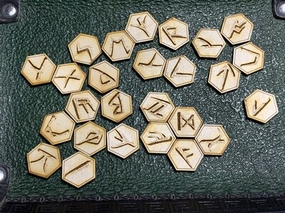 Runic Tokens Laser Engraved Inspired by Richard Garriott's Ultima Language