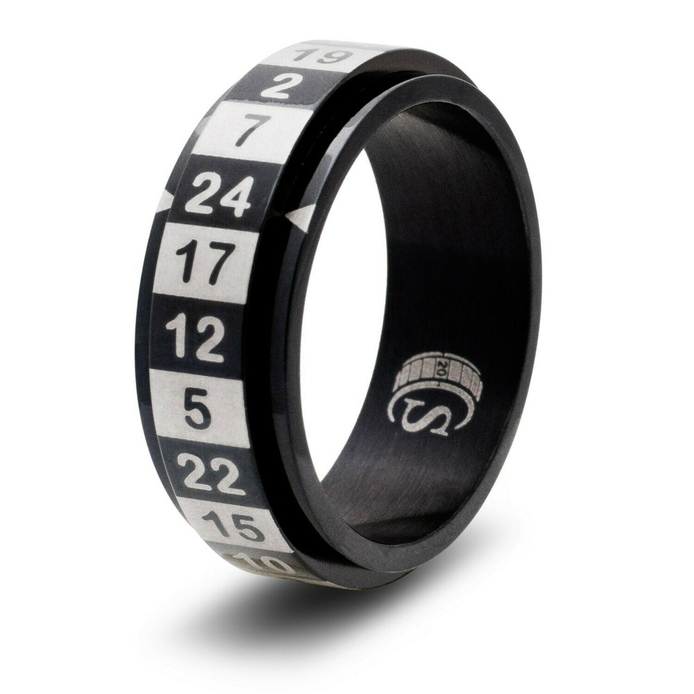 24-sided (d24) Dice Random Number Spinner Ring RPG Gaming Tabletop