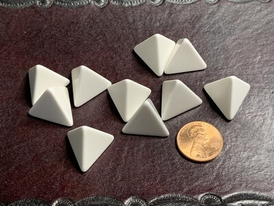 10D4 (10 Four Sided) 16mm Blank White Dice RPG Gaming Tabletop Roleplay