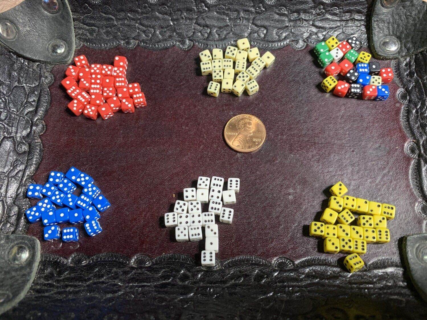 Your Color Choice - Twenty 5MM Gaming Dice Square Corner RPG Tabletop Gaming CCG Tokens