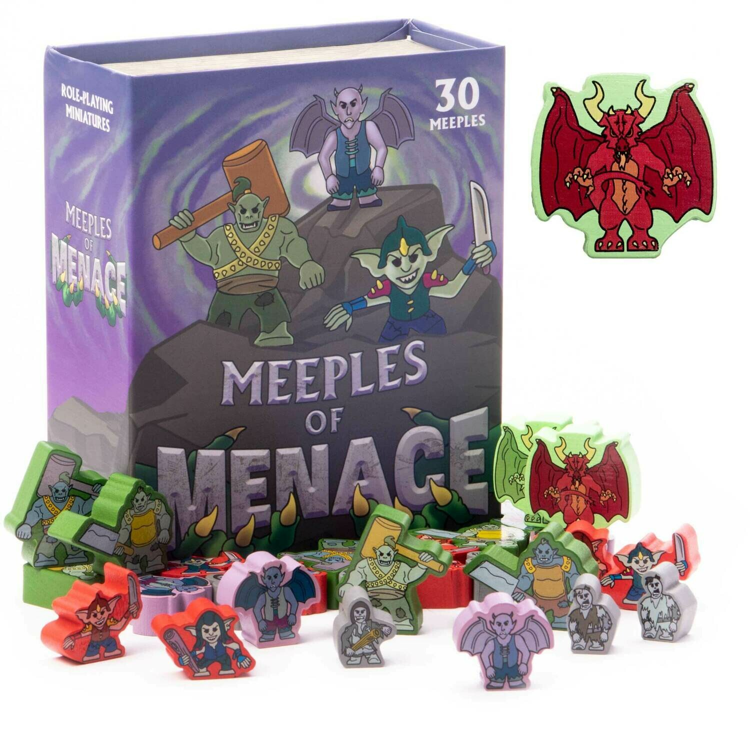 Meeples of Menace RPG Board Card Tabletop Gaming Parts Board Card