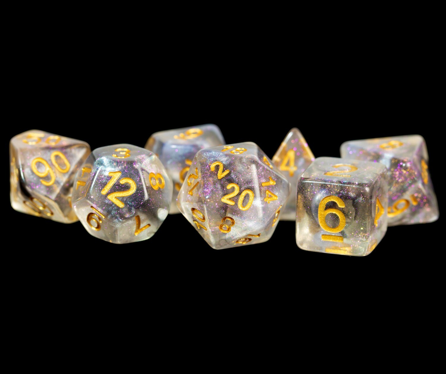 Purple Haze 16mm Resin Poly Dice Set 16mm Polyhedral Dice Set Tabletop RPG Gaming Roleplay