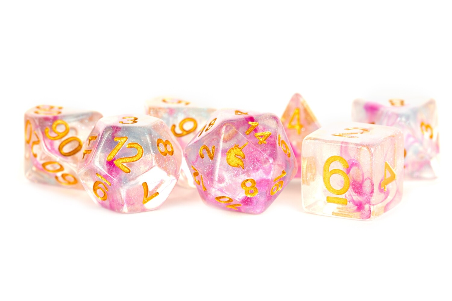 Unicorn Fairy Floss 16mm Poly Dice Set Role RPG Games