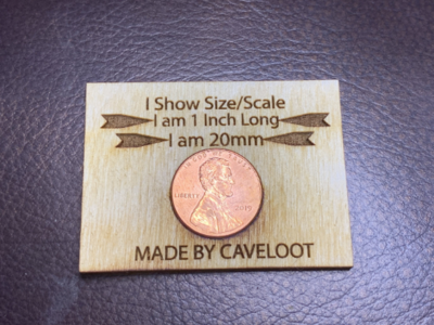Show Size in Photographs Scale Tool Penny Holder Display - Your Company Name in Every Photo