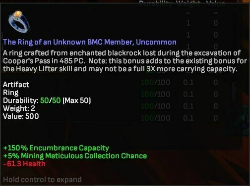 Ring of an Unknown BMC Member, Uncommon - Shroud of the Avatar