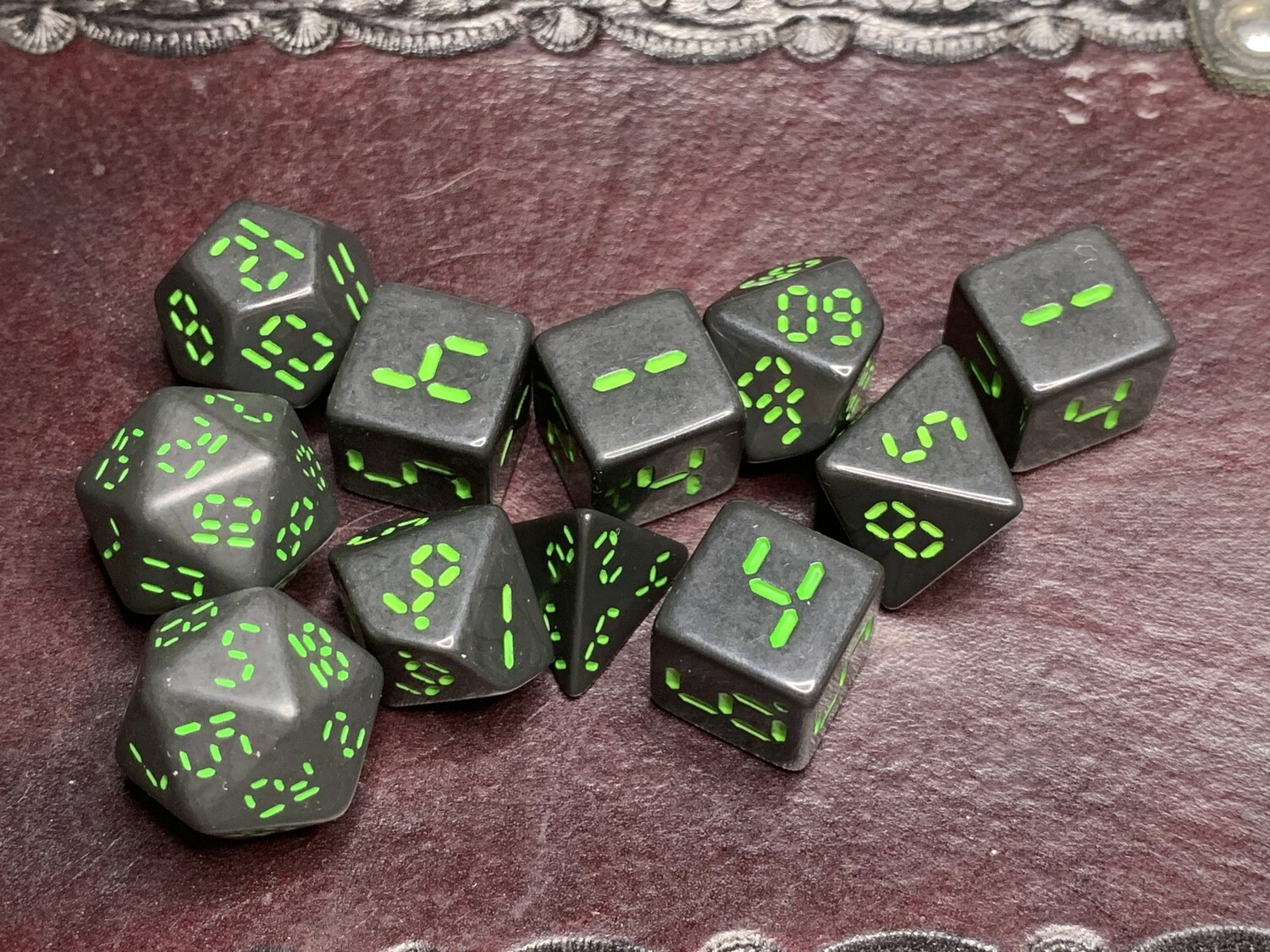 "Retro Dice 11 Piece Polyhedral Set ""Order 937"" Tabletop RPG Gaming Roleplay"