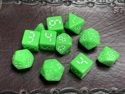 Retro Dice 11 Piece Polyhedral Set