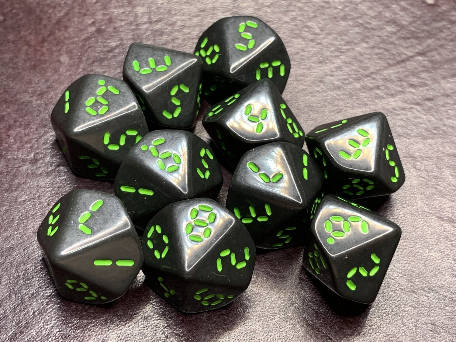 """Retro Dice 10D10 (Ten 10-Sided) Polyhedral Set """"Order 937"""" Tabletop RPG Gaming Roleplay"""