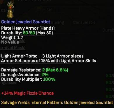 Golden Jeweled Gauntlet - Shroud of the Avatar