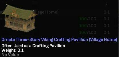 Ornate Three-Story Viking Crafting Pavillion (Village Home) - Shroud of the Avatar